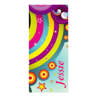 Psychedelic Personalized  Bookmarks Full Colour Rack Card