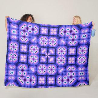 Psychedelic Phoenix Nova Satin Tie Dye Mandala Fleece Blanket