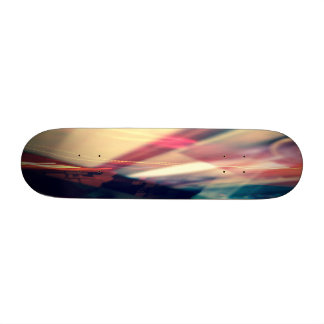 Psychedelic photographed Skateboard
