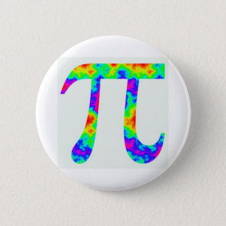 Psychedelic Pi Sign 2 Inch Round Button
