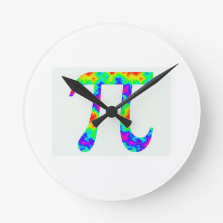 Psychedelic Pi Sign Clock