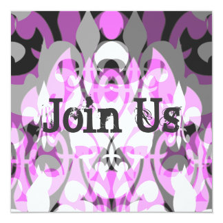 """Psychedelic Pink 5.25"""" Square Invitation Card"""