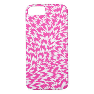 Psychedelic Pink Lightning Bolts iPhone 7 Case