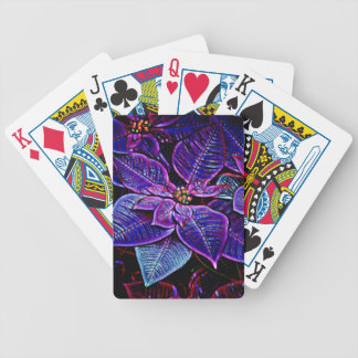 Psychedelic Poinsettia Bicycle Playing Cards