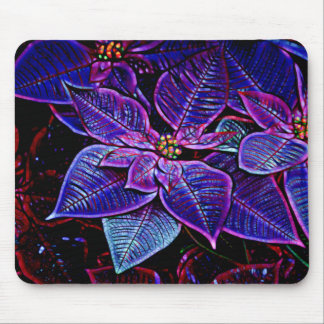 Psychedelic Poinsettia Mouse Pad