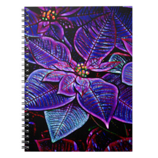 Psychedelic Poinsettia Notebook