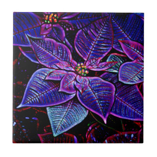 Psychedelic Poinsettia Tile