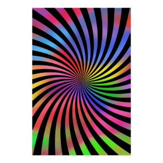 Psychedelic Poster: Multi-Color Spiral Poster