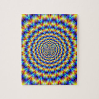 Psychedelic Pulse in Blue and Yellow  Puzzle
