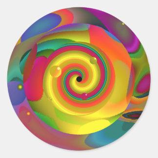 Psychedelic Punch Round Sticker