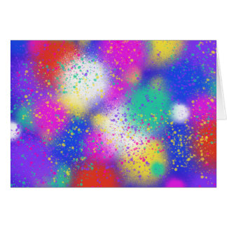 Psychedelic Purple Blue Pink Abstract Art Design Card