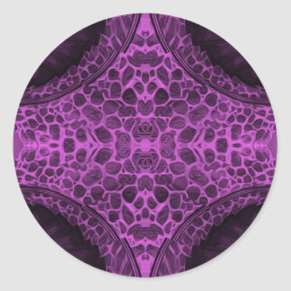 Psychedelic Purple Classic Round Sticker