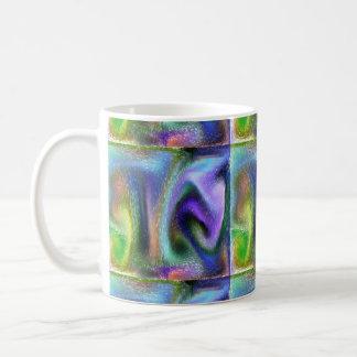Psychedelic purple coffee mug