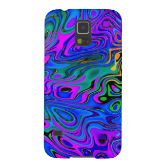 Psychedelic Purple Galaxy S5 Cover