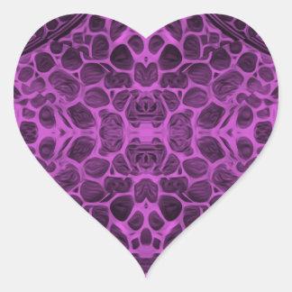 Psychedelic Purple Heart Sticker