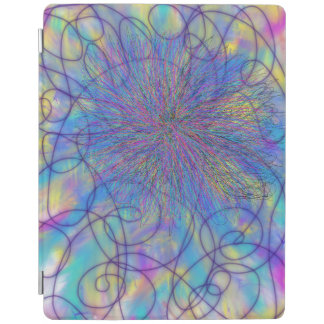 Psychedelic Purple Pink Star Abstract Art Design iPad Cover