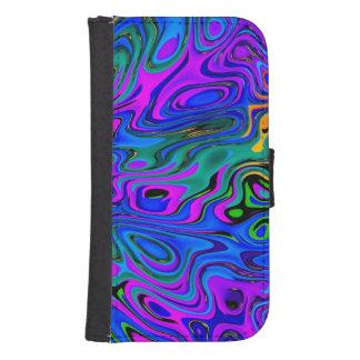 Psychedelic Purple Samsung S4 Wallet Case