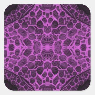 Psychedelic Purple Square Sticker