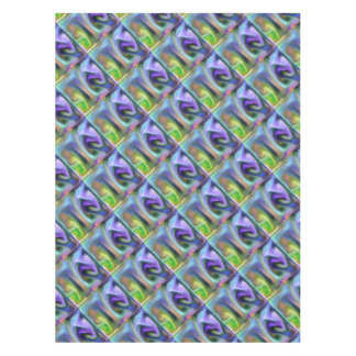 Psychedelic purple tablecloth