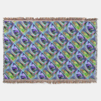 Psychedelic purple throw blanket
