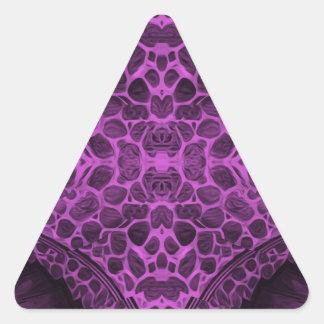Psychedelic Purple Triangle Sticker