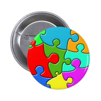 Psychedelic Puzzle 2 Inch Round Button