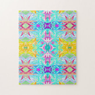 Psychedelic Puzzle Print