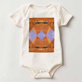 Psychedelic Pyramids Baby Bodysuit