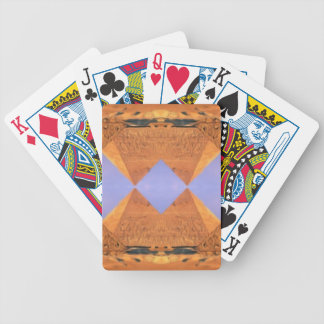 Psychedelic Pyramids Bicycle Playing Cards