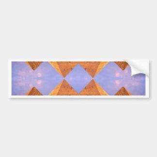 Psychedelic Pyramids Bumper Sticker