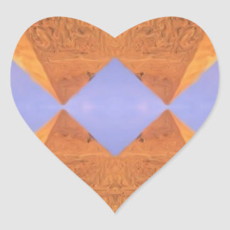 Psychedelic Pyramids Heart Sticker