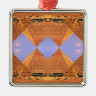 Psychedelic Pyramids Metal Ornament
