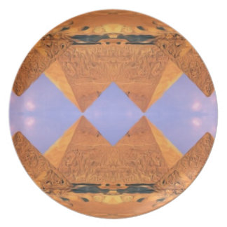 Psychedelic Pyramids Plate