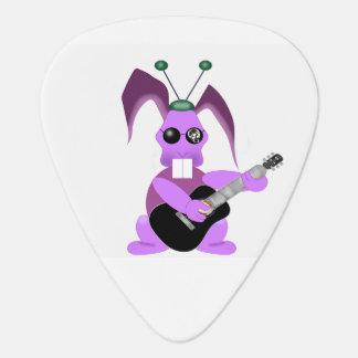 Psychedelic rabbit guitar pick