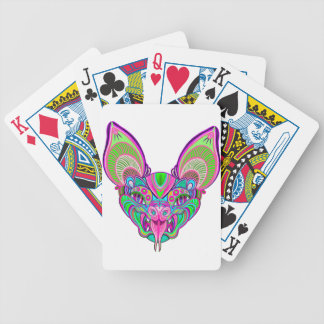Psychedelic rainbow bat bicycle playing cards