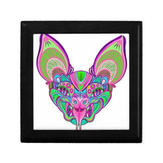 Psychedelic rainbow bat gift box