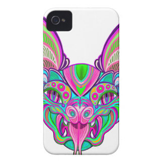 Psychedelic rainbow bat iPhone 4 Case-Mate case