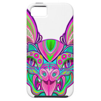Psychedelic rainbow bat iPhone 5 case
