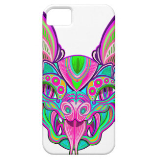 Psychedelic rainbow bat iPhone 5 covers