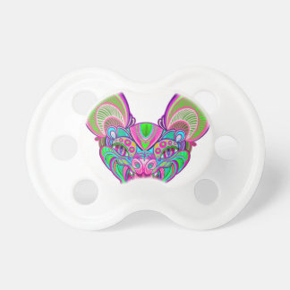 Psychedelic rainbow bat pacifier