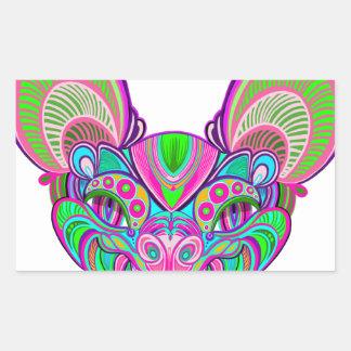Psychedelic rainbow bat sticker