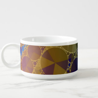 Psychedelic Rainbow Bling Abstract Chili Bowl