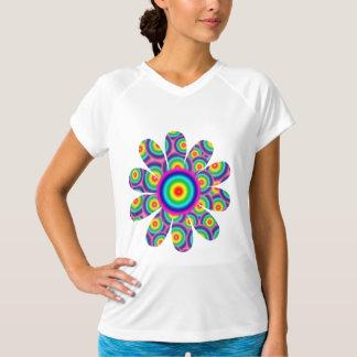Psychedelic Rainbow Flower Customizable Tee