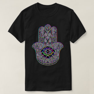 Psychedelic Rainbow Hamsa Indie Art Symbol Tee