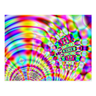 Psychedelic Rainbow Hippy Sunrise Postcard