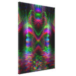 Psychedelic Rainbow Love Hearts  Wrapped Canvas Stretched Canvas Prints