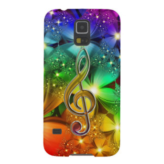 Psychedelic Rainbow Music V2 Clef Galaxy S5 Case