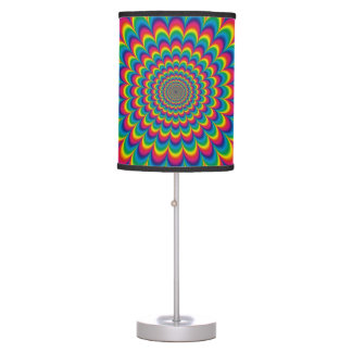 Psychedelic Rainbow Optical Illusion Lamp