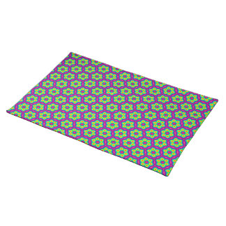 Psychedelic rainbow pattern placemat