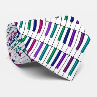 Psychedelic Rainbow Piano Wrap Music Tie